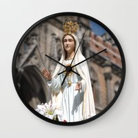 madonna Wall Clocks featuring Madonna by Frau Fruechtnicht