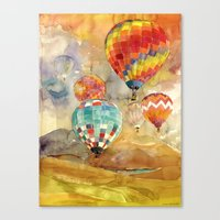 balloons Canvas Prints featuring Balloons by takmaj