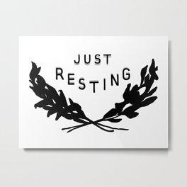 Just Resting Metal Print