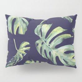 Monstera Pattern Blue #society6 Pillow Sham