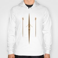 rowing Hoodies featuring rowing single scull by zenitt