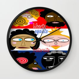 bbnyc liberty, equality and fraternity (brotherhood) Wall Clock