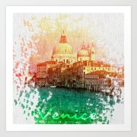 venice Art Prints featuring Venice by GingerRogers