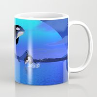 orca Mugs featuring Orca by Simone Gatterwe
