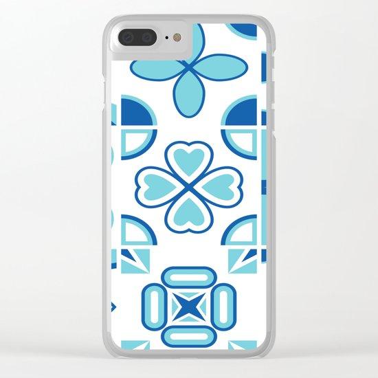 Azulejos blue Clear iPhone Case