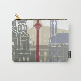 Tallinn skyline poster Carry-All Pouch