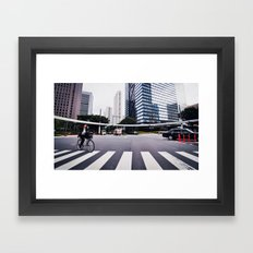 Bicycle Commute in Tokyo Framed Art Print