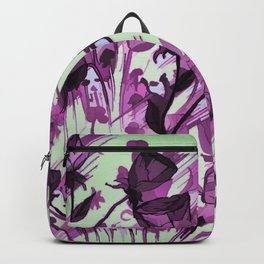 Painterly Graceful Flowing Flowers Backpack
