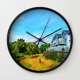 View From Ferry Road Bridge Wall Clock