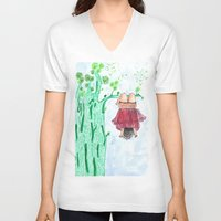 let it go V-neck T-shirts featuring LET GO! by Pritika Mathur