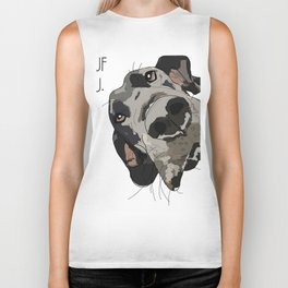 I Wuf You - Great Dane Biker Tank