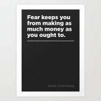 Fear –Jesse Livermore Art Print
