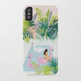 relaxing at resort iPhone Case