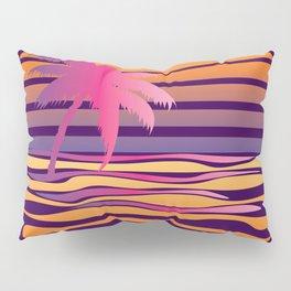 Retro striped sun and palm Pillow Sham