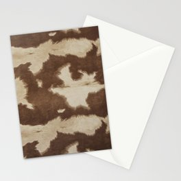 Brown and white cowhide 3 Stationery Cards