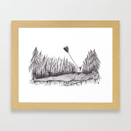 The Heart Is Blown Upon The Breeze Framed Art Print