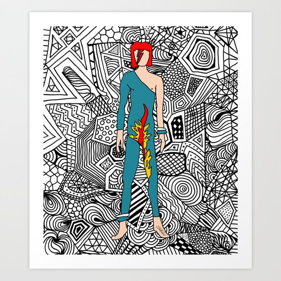 Bowie Fashion 8 Art Print