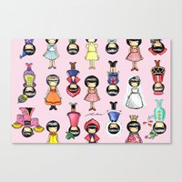 girly Canvas Prints featuring Girly by Ho Man Law