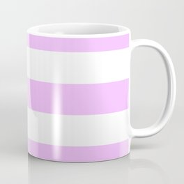 Electric lavender - solid color - white stripes pattern Coffee Mug