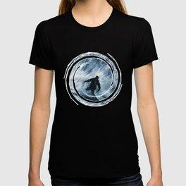 Snowboarder in 100km Blower T-shirt