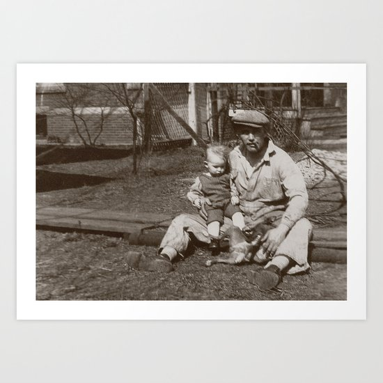 Blue Collar Dad - A Vintage Photo Art Print