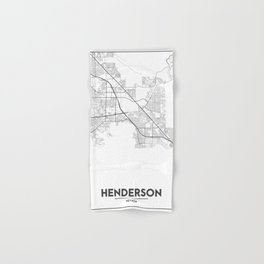 Minimal City Maps - Map Of Henderson, Nevada, United States Hand & Bath Towel