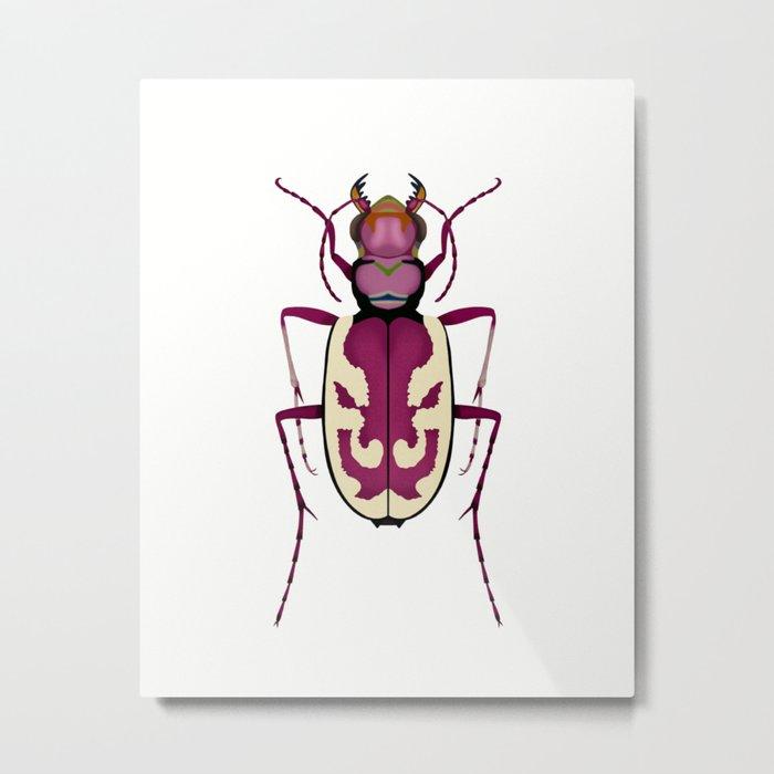 Blowout Tiger Beetle Metal Print