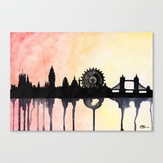 London Watercolour Skyline Canvas Print