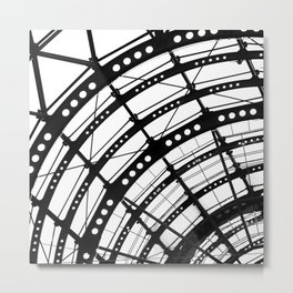 B&W Roof Arc Metal Print