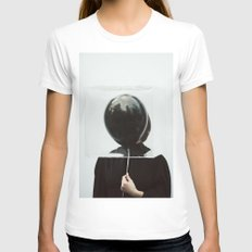 Box SMALL White Womens Fitted Tee