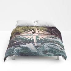 Rose Gold River Compass Comforters