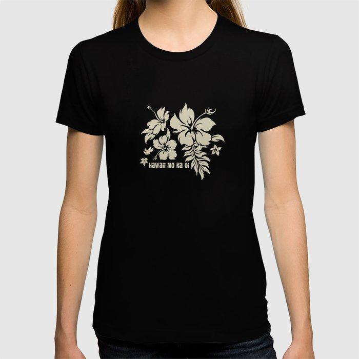 Hibiscus Pareau Hawaiian Floral Aloha Shirt Print T-shirt