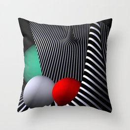 opart -62- shelter Throw Pillow
