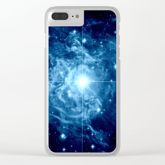 Turquoise Galaxy Star Clear iPhone Case