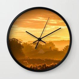 Golden Haze Wall Clock