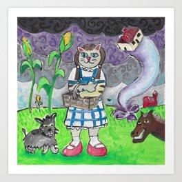 Kansas Cat Art Print