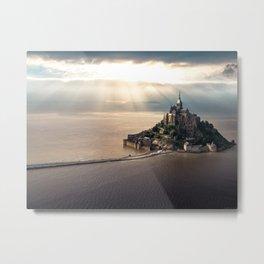 Mont Saint Michel island, Southern France Metal Print