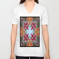 givenchy V-neck T-shirts featuring Givenchy Print by I Love Decor