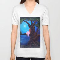 dreamer V-neck T-shirts featuring Dreamer by Laura Miller