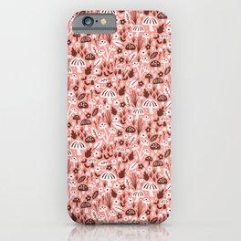 Mushrooms Pink iPhone Case
