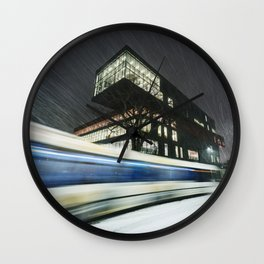 Library Blizzard Wall Clock