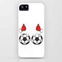 Soccer This Guy Loves Balls Christmas Design For December 25th T-shirt Design Carol Gift Tree Bell iPhone Case