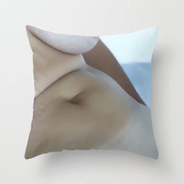 Nude Woman Taking a Bath Throw Pillow