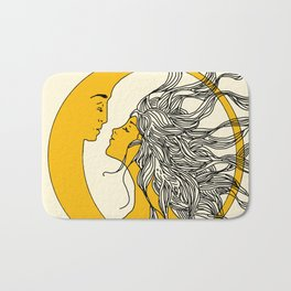 Sun and Moon Bath Mat