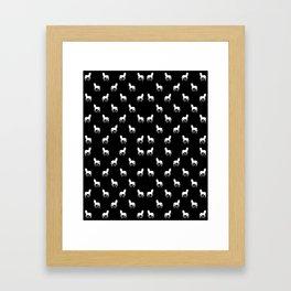 Silhouette Graphic Horses Pattern Framed Art Print