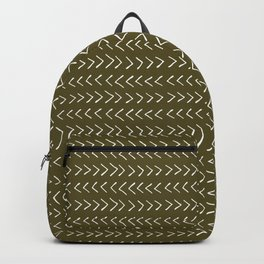 Arrows on Bronze-Olive Backpack