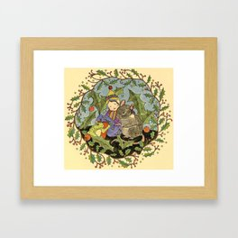 Sheltering The Little Folk Framed Art Print