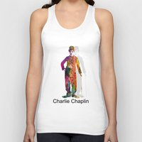 chaplin Tank Tops featuring charlie chaplin by mark ashkenazi
