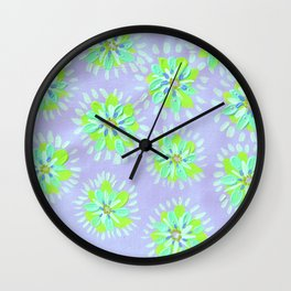 Lime Petal Rose Wall Clock