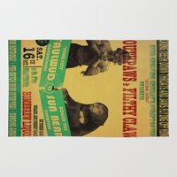 boxing Area & Throw Rugs featuring Boxing Poster by EverEvolvingEpithet